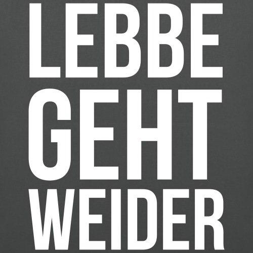 Spreadshirt Lebbe Geht Weider Hessisch Stoffbeutel Graphite