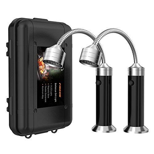 FIREOR Grill Licht, Magnetische BBQ Licht Flexibel Grilllampe Outdoor Grill Lichter BBQ Zubehör Werkzeuge Set (2 Pack, Schwarz)