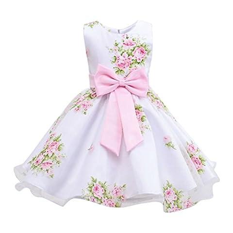 Brightup Kinder Kleid Mädchen Kleid Blumen Brautkleid Bow-kont