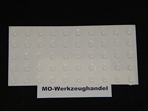 50 Stück Anschlagpuffer Rund Ø 8 mm H: 2,2 mm, selbstklebend transparent, Möbelpuffer, Anschlagdämpfer, Elastikpuffer, Möbel-Puffer, 9008