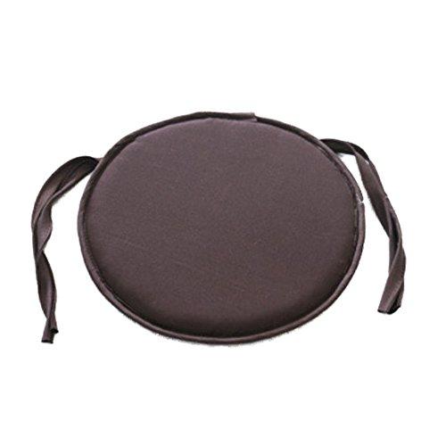 Woopower Sitzpolster, runde Sitzkissen Kissen mit Farben erhältlich, für Innenbereich, Essen, Garten Terrasse Sofa Büro Küche, coffee, 2er-Pack