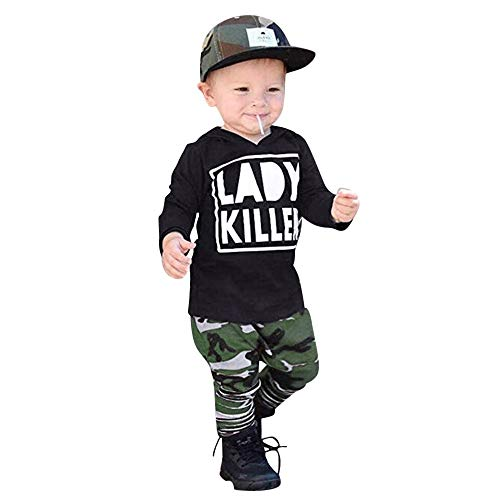 i-uend Baby 2019 Neue 2 Stücke Outfit Sets - Kleinkind Kinder Baby Brief Hoodie Sweatshirts + Camouflage Print Hosen Set Outfit Für 3-24 Monate