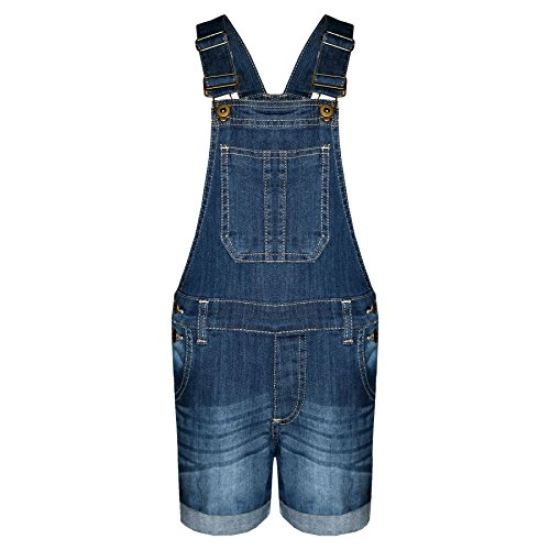 A2Z 4 Kids Kids Girls Denim Stretch Dungaree Shorts Jumpsuit Playsuit All In One New Age 7 8 9 10 11 12 13 Years