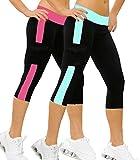 iLoveSIA® Damen Sport leggings Strumpfhose Capri Jogging