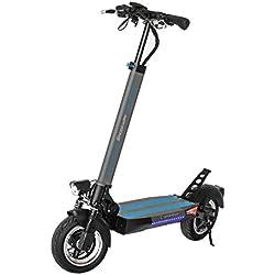 SmartGyro Xtreme SpeedWay - Patinete Eléctrico de 600 W con 3 Marchas, Velocidad 25 Km/h, Batería 13.000 mAh 48 V, Doble Suspensión Reforzada, Tubeless, Frenos de Disco, LEDS, Potente