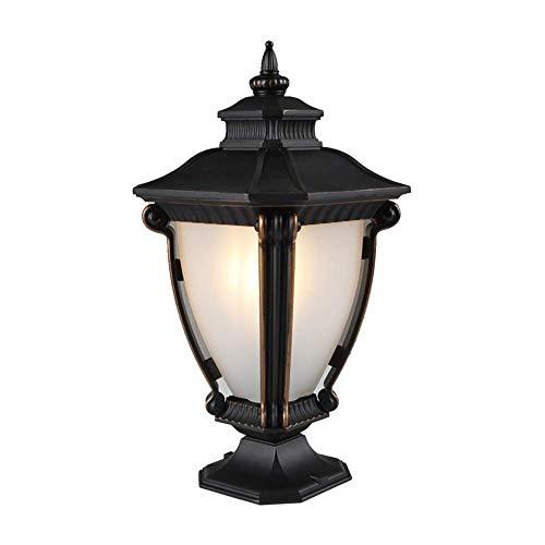VSousT Säulenlampe Europäische wasserdichte Gartenleuchte Villa Garden Garden Light Türleuchte Home Wandleuchte Wandleuchte (Wie Man Den Marvel-weg)