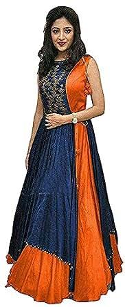 Morang Women's Fashion Banglori & Net Lehenga Choli (Free_Mult) Lehenga Cholis