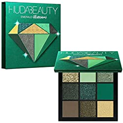 Palette de fard à paupières Collection Precious Stones, la palette de fards à paupières comprend des fards à paupières mats et brillants, 5 couleurs, imperméable green