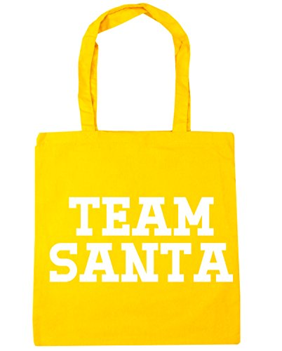hippowarehouse Team Santa Tote Shopping Gym Beach Bag 42 cm 38 38, 10 Liter, gelb, One Size (Bell Von Santas Schlitten)