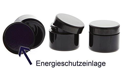 Mironglas Violett Tiegel 30 ml Energieschutz Deckel, Leere Kosmetex Miron Violett-Glas Creme-Dose, Kosmetikdose, 3 Stück