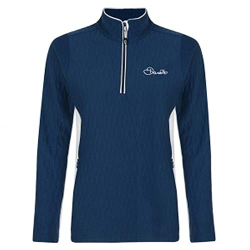 Dare 2b Damen dilatanz (GRANULARE Materie) Core Half Zip Schnell trocknend Top Stretch Midlayer S Blue Wing/White Stretch Half Zip Shirt