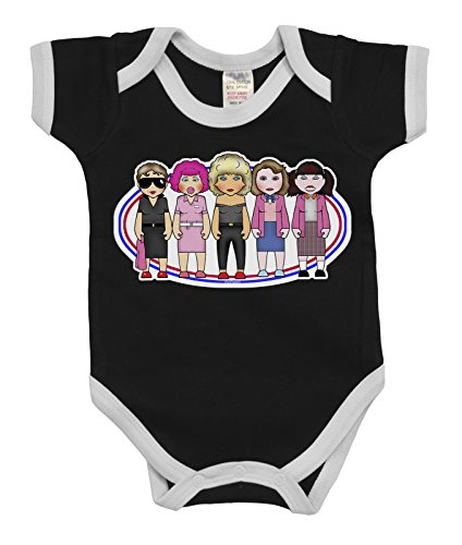 en Ladies In Pink Boys & Girls Baby Bodysuit (Grease Sandy Outfit)