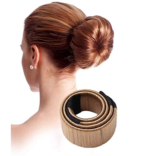Youkara 2Stück Frauen Mädchen Kinder Magic Hair Bun Maker Hair Styling Lockenstab mit Mädchen mit Haar Styling Lockenstab für Yoga Laufen Tanzen Party Hochzeit (braun), Arbeiten und Alltag -