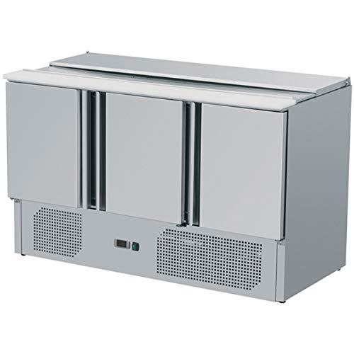 ZORRO - Saladette ZS903-3 Türen - Kühltisch mit Deckel - Salatkühlung - Gastro Kühltheke -