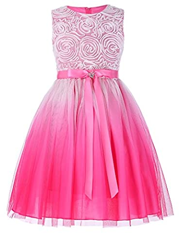 Sleeveless Rosette Flower Girl Dress Party Dresses 2-3 yrs
