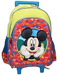 Preisvergleich für Rucksack baby DISNEY MICKEY MOUSE tasche freizeit schule grün mit trolley VZ131