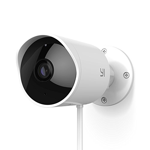 YI Outdoor Camera 1080p Home Security Surveillance IP Camera Wifi CCTV Bullet Camera Waterproof with Night Vision Two-way Audio Motion Detection – Remote Monitor APP & Cloud Storage Available