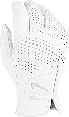 Nike Tour Classic II–Regular Right Hand Herren Handschuhe, Weiß/Grau L Weiß/Grau