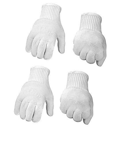 Sienoc guanti anti taglio protezione di livello 5 ad alte prestazioni, grado alimentare, guanti resistenti ai tagli per uso in cucina protezione livello (2 paio bianca)