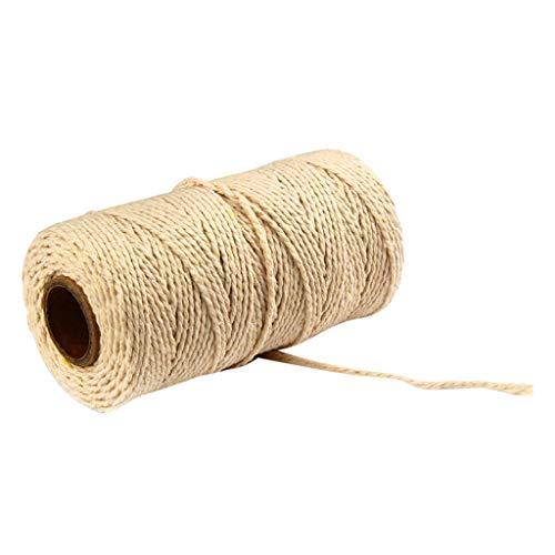 Coton Cordes pour Bricolage Collier Bracelet Craft Faisant, Cordon Naturel Fait Main pour Macramé à Faire, Coton Naturel Corde Bohême macramé Yard DIY Coton Cordon Macramé Cordon (M)