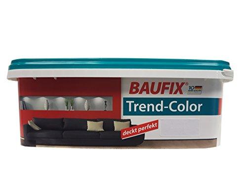Baufix Wandfarbe Trend-Color farbton wählbar, seidenmatt 2,5 Liter , Farbe:Mocca