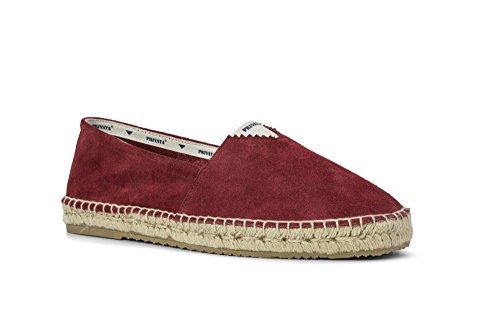 Kaps cordones finos redondos, cordones de algodón 100% de calidad para zapatos casuales y de moda, fabricados en Europa, 1 par (75 cm - 4 a 5 pares de ojales/31 - rojo)
