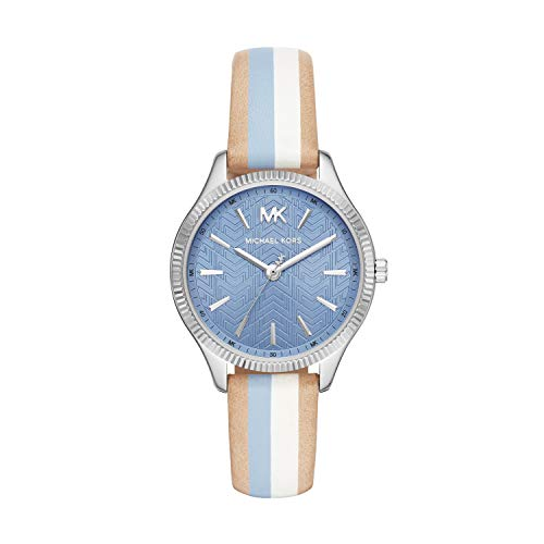 Michael Kors Damen Analog Quarz Uhr mit Leder Armband MK2807