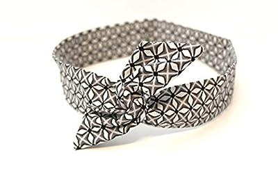 Bandeau rigide court gris et blanc