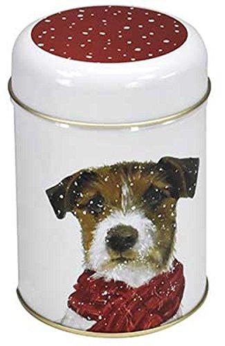 Dose Hund mit Schal Teedose Kaffeedose 100 g Winter
