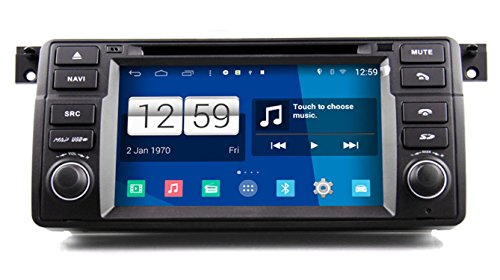 Roverone Android System 7 Zoll In Dash Autoradio GPS für BMW E46 M3 Z3 Z4 Rover 75 MG ZT 318i 320i 325i 328i mit Stereo Navigation System DVD SD USB Touch Bildschirm (Stereo Bmw Z3)