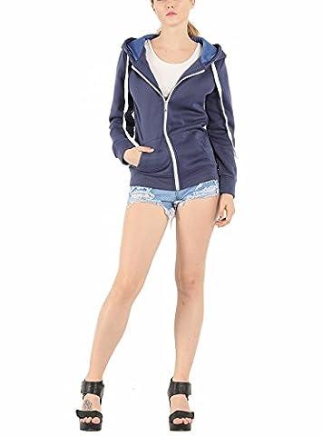 Hqclothingbox Ladies Plain Hoody Girls Zip Top Womens Hoodies Sweatshirt