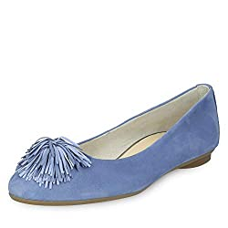 Paul Green 2409 Damen Ballerinas Blau, EU 38,5