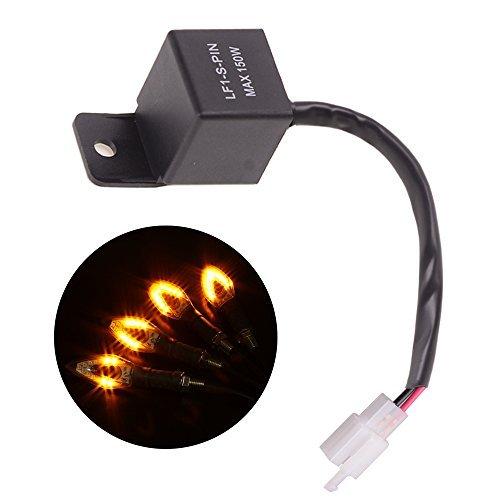 Evermotor Relé de intermitencia electrónico LED universal de 2 pines Lámparas de...