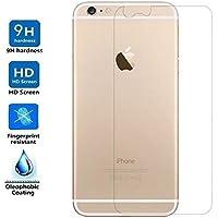 Electrónica Rey Protector de Pantalla Trasero para iPhone 6 / 6S, Cristal Vidrio Templado Premium
