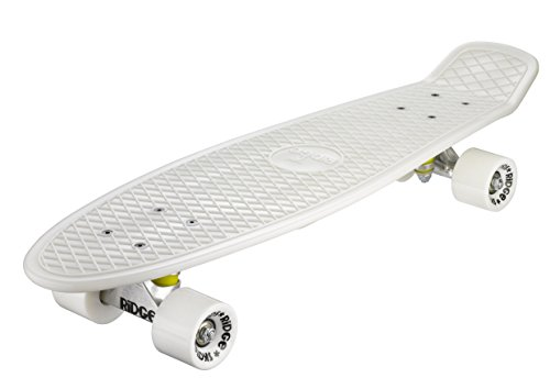 Ridge Skateboard Big Brother Nickel 69 cm Mini Cruiser, Glow/weiß