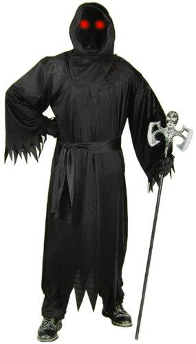Schauerliches schwarzes Phantom Kostüm! 3 Teile (Unbekannte Phantom Kind Kostüme)