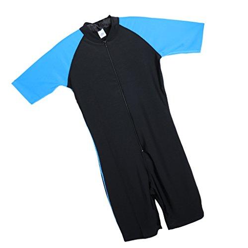 MagiDeal Wassersport Jumpsuits Herren / Männer Badeanzug Surfanzug Tauchanzug Schwimmanzug UV-Schutz - XL