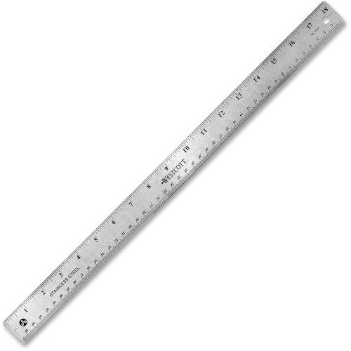 Westcott 10417righello in acciaio INOX ufficio con base in sughero antiscivolo, 45,7cm