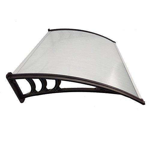 chuangke doorcanopy Tenda veranda anteriore e posteriore esterno SOLE pioggia paralume, 120cm, colore: nero