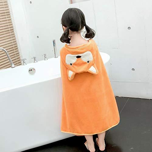 Tier Kapuze Baby-Handtuch Waschlappen Ultra Soft und Extra Large, Baumwolle Bademantel for Groß Säuglings- / neugeborenes Dusche Geschenk for Jungen oder Mädchen (0-7 Jahre) (Color : Orange)