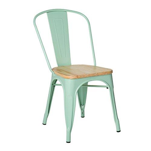 Sklum sedia lix legno verde menta - (scegli un colore)