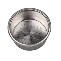 Santo Non Pressurized Filter Basket, Stainless Steel Double Cup 51mm Replacement Filter Basket Compatible with Delonghi, Breville and Krups