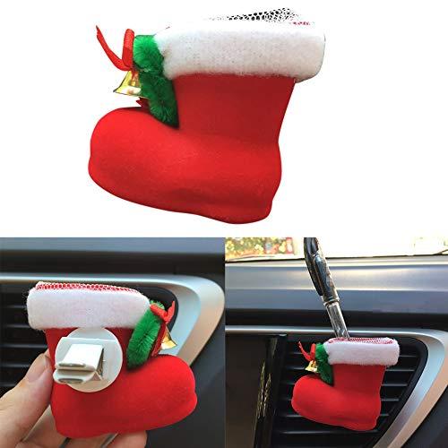 xMxDESiZ - Ambientador para Coche con diseño de Bota de Navidad
