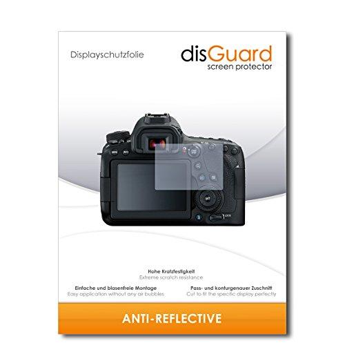 disGuard® Displayschutzfolie [Anti-Reflex] kompatibel mit Canon EOS 6D Mark II [2 Stück] Entspiegelnd, Matt, Antireflektierend, Extrem Kratzfest, Anti-Fingerabdruck - Panzerglas Folie, Schutzfolie