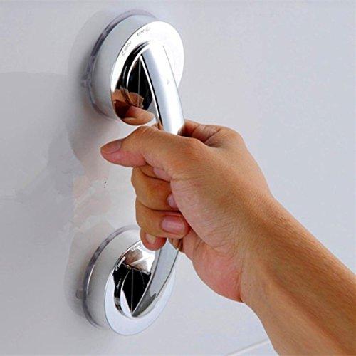 Badezimmer Handlauf Bad Sicherheitsgriff Saugnapf Handlauf greifen Badezimmer Griff Badewanne Dusche Bar Rail Bad Produkte (Silber)