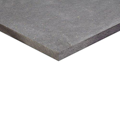 10mm MDF schwarz durchgefärbt Platte 50x50 cm