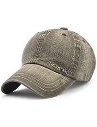 LAOWWO Unisex Hombres Mujeres Gorra de Béisbol Lavado Ajustable Denim  Classic Design Sport Leisure Cap Hat 8994d698f45