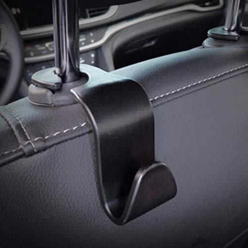 System-S Caricabatteria da auto Supporto poggiatesta Supporto doppio gancio appendiabiti set da pezzi