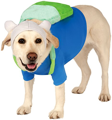 Rubies Costume Company Adventure Time's Finn Pet Costume, X-Large by Rubie's Costume (Kostüme Finn Kind Adventure Time)