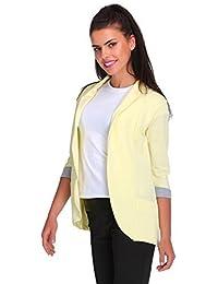 78d363b17 FUTURO FASHION Elegance Women's Jacket Blazer Style Pockets 3/4 Sleeve 2501  Hot Pink
